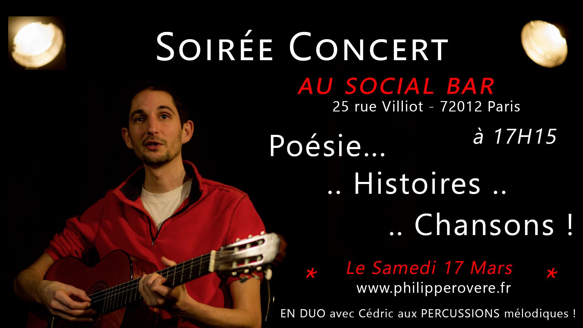 Philippe Rovere - Concert au Social Bar