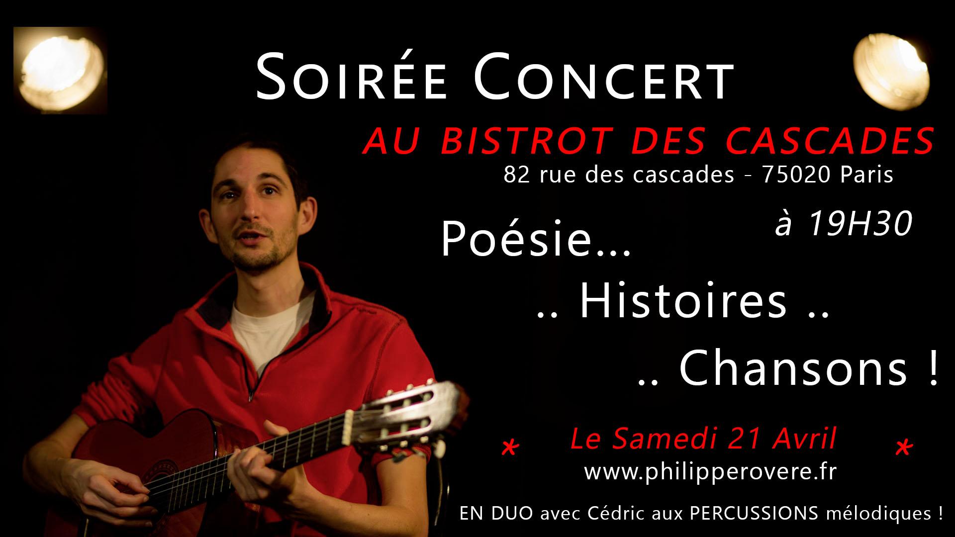 Philippe Rovere - Concert au Bistrot des Cascades