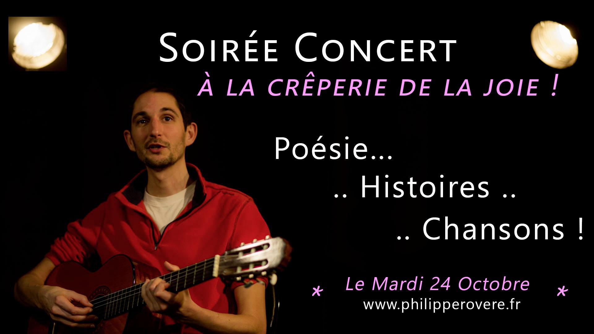 Philippe Rovere - Concert à la Crêperie de la Joie