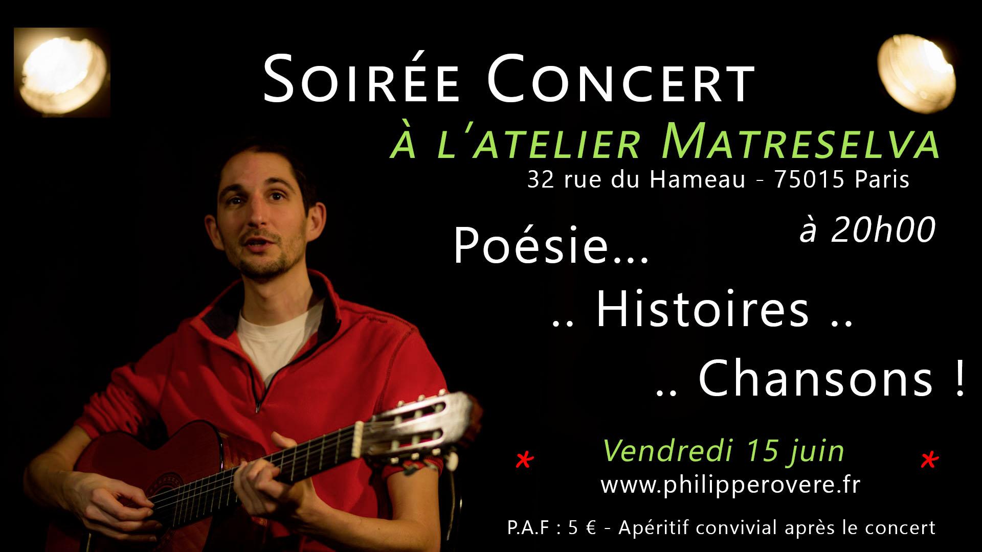Philippe Rovere - Concert à l'atelier Matreselva