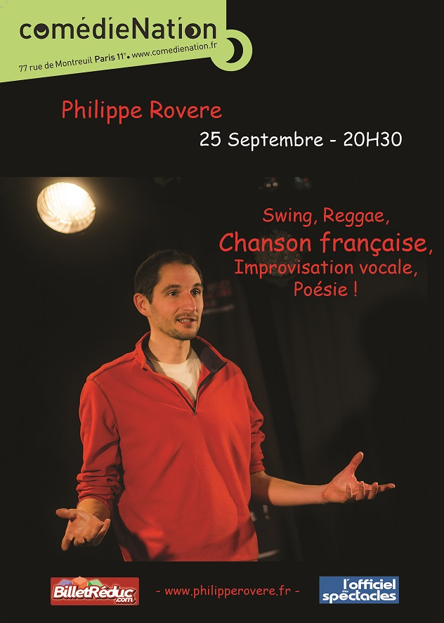 Philippe Rovere - Concert théâtre Comédie-Nation